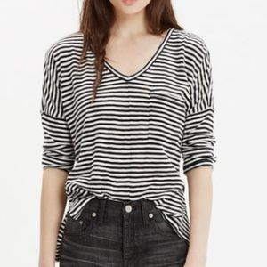 Madewell Red Blue Stripe Melody Tee